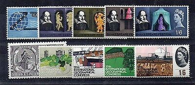 GB 1963 Cable to 1964 Geographical commemorative sets complete MNH (Cable foxed)