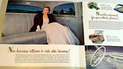 ORIGINAL 1940s OR 1950s ? PLYMOUTH DEALER SALES BROCHURE POSTER