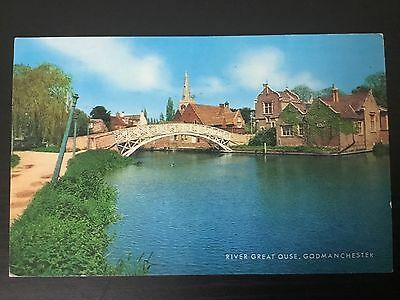 Postcard - River Great Ouse, Godmanchester, Huntingdonshire