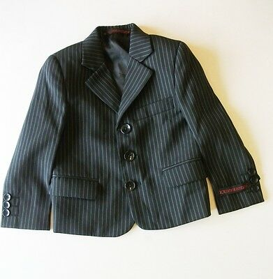 Baby boys suit jacket Black striped Age 12 months Wedding Christening KR