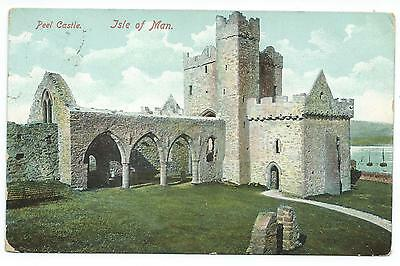 ISLE OF MAN - PEEL CASTLE  1907 Postcard