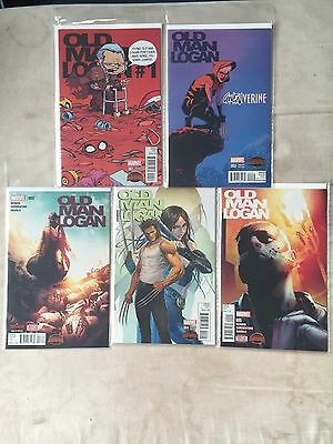 Marvel Secret Wars Old Man Logan Variant Set 1-5 NM First Prints