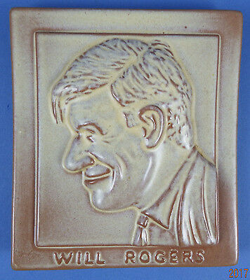 Frankoma Pottery – Will Rodgers Plaque – Desert Gold