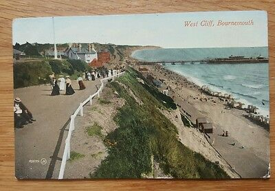 1911 Postcard of West Cliff Bournemouth Dorset
