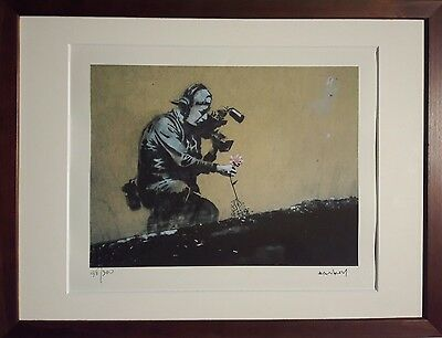 Banksy limited Lithographie Flower Chucker Street Art Basquiat HARING OBEY Dali