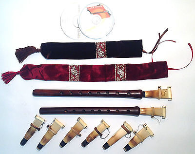 2 Duduk Professional Armenian 8 reeds 2 CD case Flute Oboe Mey Ney Instruction