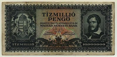 HUNGARY, 10 Milion Pengo, 1945 circulated