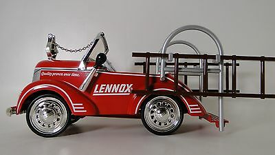 A Fire Truck Pedal Car 1940s Ford Engine Pumper Tower White Letters Midget Model