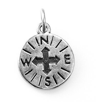 LOOK Genuine Authentic Sterling silver Compass North West East South charm Jewel