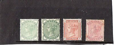 GB QV1880-81 1/2d,1d and 2d stamps mint