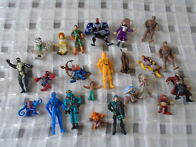 Job lot of over 20 character figures toys