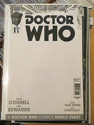 DOCTOR WHO FOUR DOCTORS #1 NM 1st Print BLANK VARIANT Titan Paul Cornell