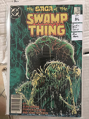 SAGA OF THE SWAMP THING #28 VF+ 1st Print CANADIAN PRICE VARIANT Alan Moore