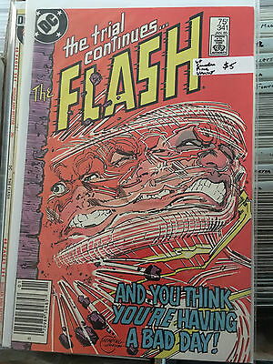 THE FLASH #341 VF 1st Print CANADIAN PRICE VARIANT Trial of The Flash