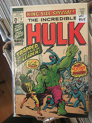 INCREDIBLE HULK KING SIZE SPECIAL #3 Annual VF+ 1st Print The Leader