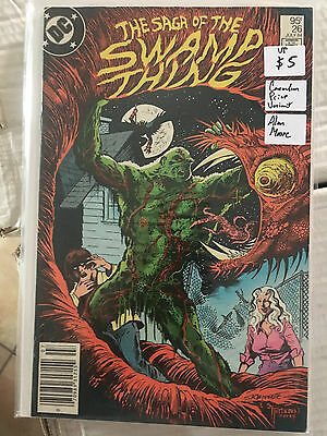 SAGA OF THE SWAMP THING #26 VF 1st Print CANADIAN PRICE VARIANT Alan Moore