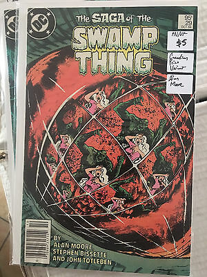 SAGA OF THE SWAMP THING #29 FN 1st Print CANADIAN PRICE VARIANT Alan Moore