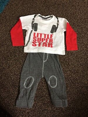 Baby Boys Outfit 3-6 Months Top And Pants