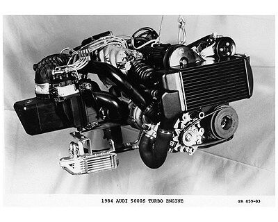 1984 Audi 5000S Turbo Engine Factory Photo ca7240