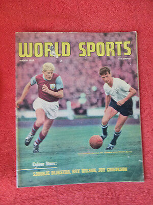 Vintage Worlds Sports Int. Sports Magazine. March 1963 - Soccer