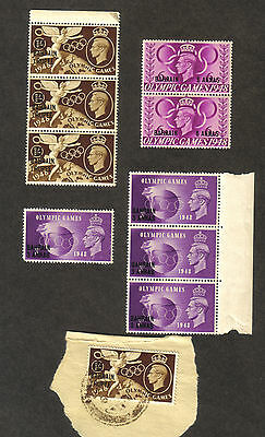 RJKstamps Great Britain Scott 272, 273, 274 with BAHRAIN overprint  used & mint