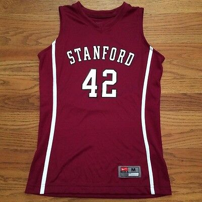 New Nike Youth M Stanford Cardinals Front Court Game Jersey #42 Maroon