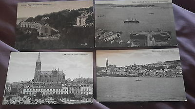 4 x old postcards of Queenstown