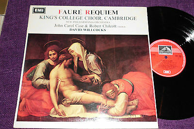 """faure Requiem ""  King's College Choir   Npo  Willcocks  1968 Uk Lp Hmv Asd 2358"