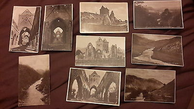 9 x Old postcards of Scotland - Sweetheart Abbey Dumfries, The Sma Glen, Pass of