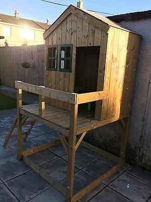 TP Toys Forest Cottage Wooden Playhouse And Sandpit New! RRP £450 Summer Fun