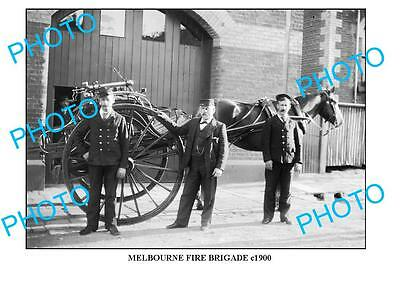 LARGE PHOTO OF OLD MELBOURNE FIRE BRIGADE MBF c1900