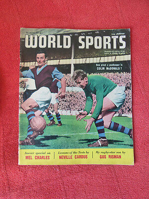 VINTAGE WORLDS SPORTS INT. SPORTS MAGAZINE. MARCH 1959 - COLIN McDONALD