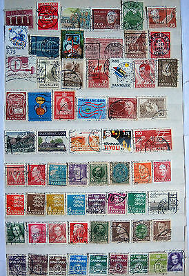 Collection Of Different Used Danish Stamps.