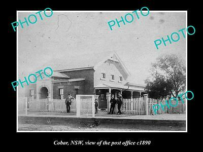 OLD LARGE HISTORIC PHOTO OF COBAR NSW, VIEW OF THE OLD POST OFFICE c1890