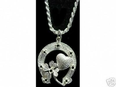 LOOK Good Luck Horse Shoe Clover Love Pendant Charm Jewelry