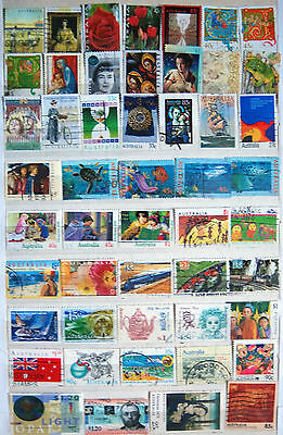 Selection of Used Australian Stamps, Including High Values.
