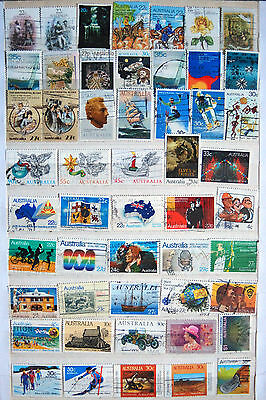 A Selection of Used Australian Stamps.