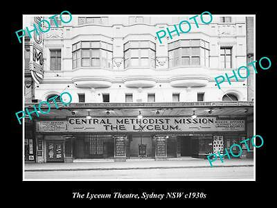 OLD LARGE HISTORIC PHOTO OF THE LYCUEM THEATRE, SYDNEY NSW c1930s