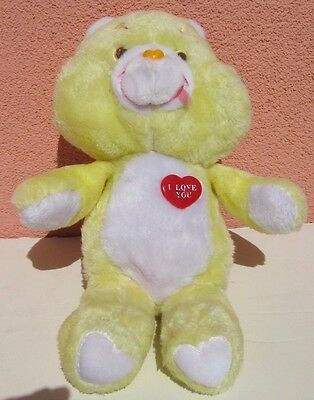 "Vintage RARE  Plush UK Charity Limited ""I l LOVE YOU"" Care Bear 13'' 1980's"