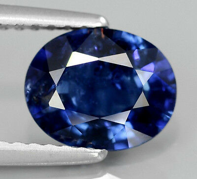 1.85 Ct Natural Oval Intense Royal Blue Sapphire, Heat Only, Thailand
