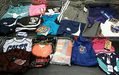 Lot of 18 Assorted Sporting Good / Workout Clothes for Men / Women / Kids -A