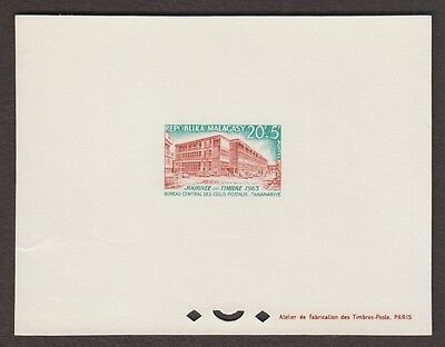 MADAGASCAR Malgasy Republic B22 Proof Sheet 1963 Semi Postal