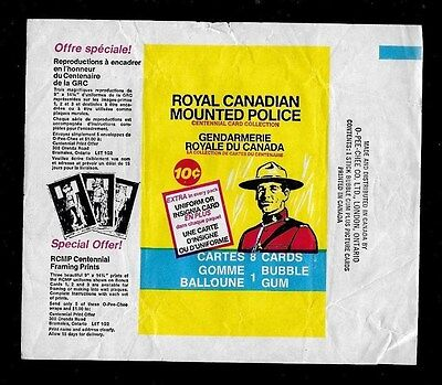 1973 O Pee Chee Opc One Wrapper Royal Canadian Mounted Police Rare