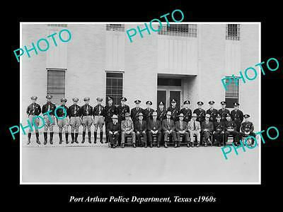 OLD LARGE HISTORIC PHOTO OF PORT ARTHUR TEXAS, THE POLICE DEPARTMENT c1960s