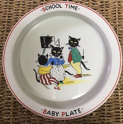 Rare Vintage Burleigh Ware School Time Baby Childs Heavybowl Vgc