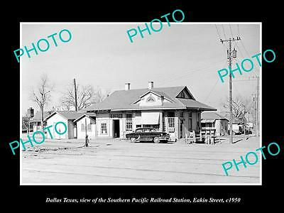 Old Large Historic Photo Of Dallas Texas, The Railroad Depot Station 1950
