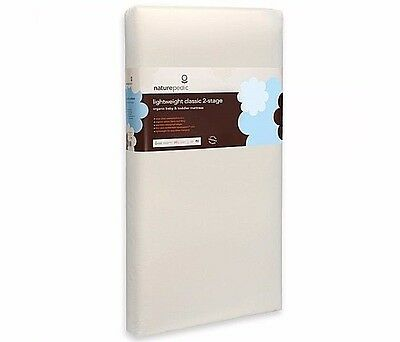 Naturepedic MC34 Organic Cotton Lightweight Classic 2-Stage Crib Mattress | NEW
