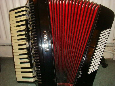 Used Black PRIMO Piano Accordion 96 Bass (Italy)