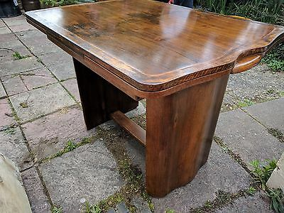 Art Deco Walnut dining table - extending