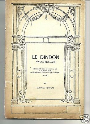 LE DINDON by G.FEYDEAU 1961 SCRIPT FRENCH TEXT
